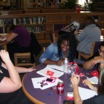 Students enjoy meeting the library once per month for the book club.