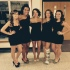 Zoe Spain and her friends pose for a picture at the Homecoming dance Saturday night.