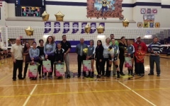 Hobart volleyball celebrates seniors
