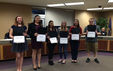 Journalism class honored at board meeting