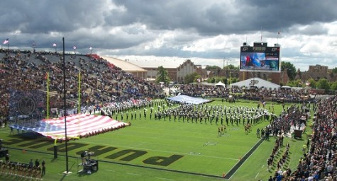 HHS Marches to Purdue Band Day